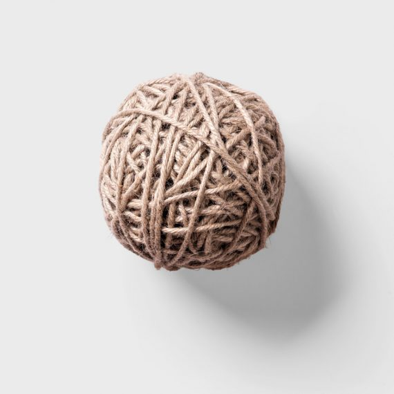 Ball of wool thread