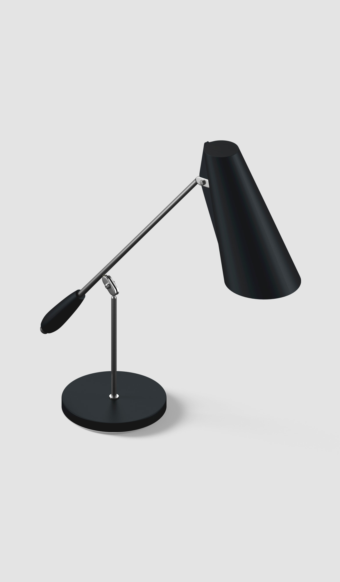 Table lamp with focus