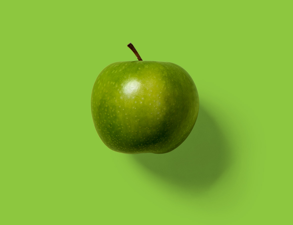Luscious green apple