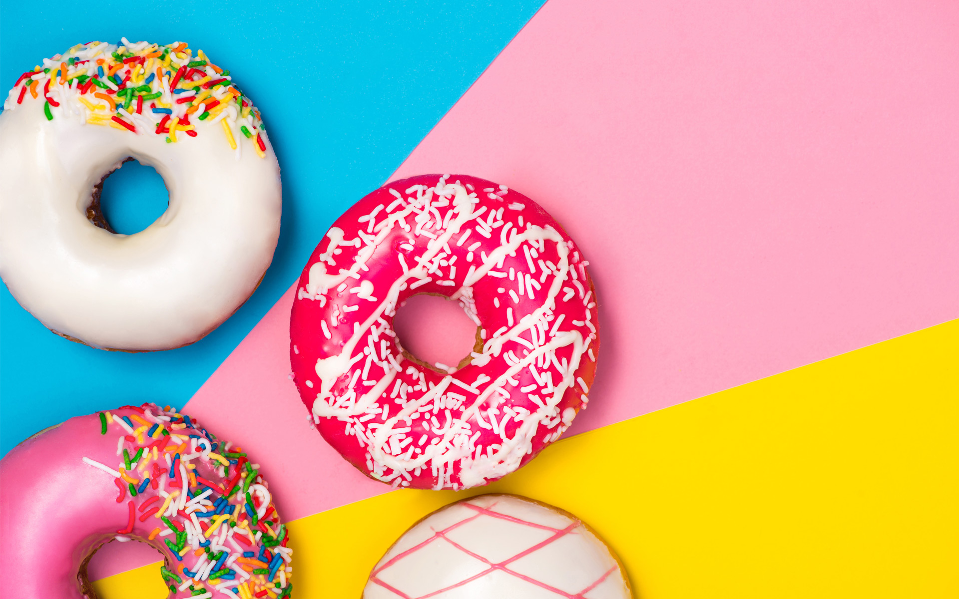 The colorful donuts…