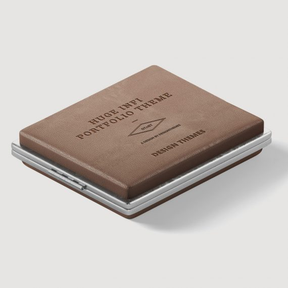 Leather visiting card pouch