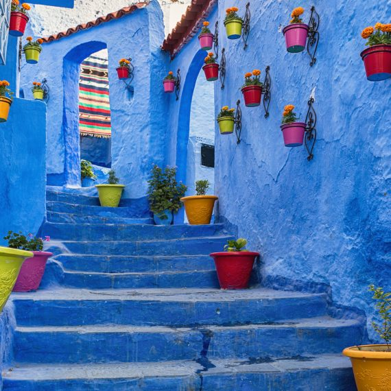 The bluish staircase